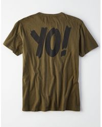 American Eagle - Green Ae X Mtv Graphic Tee for Men - Lyst