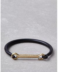 American Eagle - Metallic Black & Gold Metal Hook Cuff - Lyst