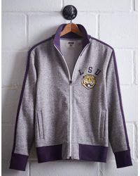Tailgate Gray Men's Lsu Track Jacket for men