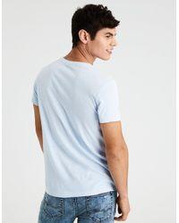 American Eagle Blue Ae Slub Crew Neck T-shirt for men