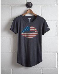 Tailgate Blue Women's Americana Lips T-shirt