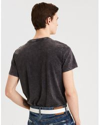American Eagle Black Ae Neon Washed T-shirt for men