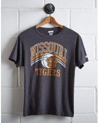 Tailgate Gray Men's Missouri Tigers Basketball T-shirt for men