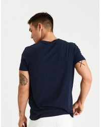American Eagle Blue Crew Icon Graphic Tee for men