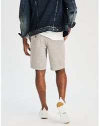 """American Eagle - Gray Ae Extreme Flex Slim 9"""" Flat Front Short for Men - Lyst"""