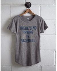 Tailgate Gray Women's No Crying T-shirt