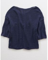 American Eagle Blue Bonfire Sweater