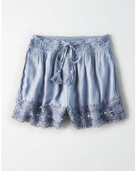 American Eagle - Blue Ae Crochet Short - Lyst