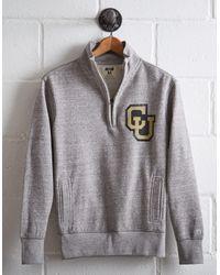 Tailgate Gray Men's Colorado Half-zip Fleece Popover for men