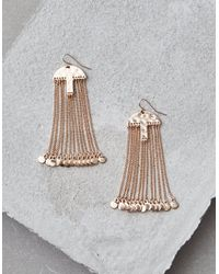 American Eagle - Metallic Gold Metal Chain Duster Earrings - Lyst