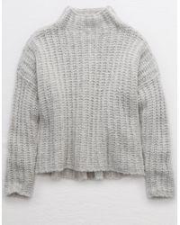 American Eagle Gray Turtleneck Sweater