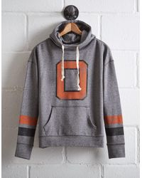 Tailgate Gray Women's Oklahoma State Cowl Neck Hoodie