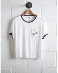 Tailgate White Women's Lsu Tigers Pocket T-shirt