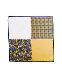 JZ Richards | Yellow Silk Pocket Square for Men | Lyst