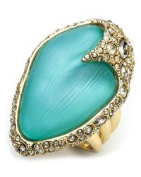 Alexis Bittar Blue Lucite Encrusted Cocktail Ring