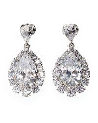 Nadri - Metallic Glam Cubic Zirconia Teardrop Earrings - Lyst