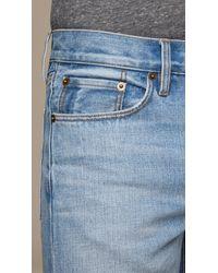 Burberry Blue Slim Fit Washed Japanese Denim Jeans for men