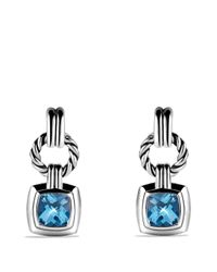 David Yurman | Metallic Renaissance Drop Earrings With Blue Topaz | Lyst