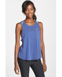 Nike | Blue Tailwind Dri-FIT Tank Top | Lyst