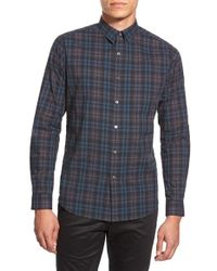 Theory | Multicolor 'zack. Winterton' Trim Fit Plaid Sport Shirt for Men | Lyst