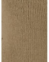 Ermanno Scervino Natural Ribbed Knit Sweater for men
