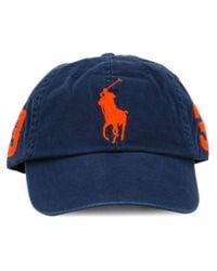 Polo Ralph Lauren - Blue Logo Embroidered Cap - Lyst