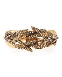Oscar de la Renta - Metallic Crystal Spike Hinge Bracelet - Lyst