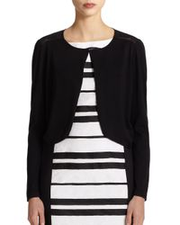 Lafayette 148 New York - Black Sheer-back Shrug - Lyst