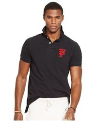 Polo Ralph Lauren Black Custom-fit Mesh Polo Shirt for men