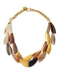 Ashley Pittman | Brown Shabaha Mixed Horn Wing Collar Necklace | Lyst