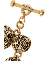 Oscar de la Renta Metallic Swirl Gold-Plated Finger Bracelet