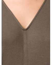 Rick Owens | Gray Draped Maxi Dress | Lyst