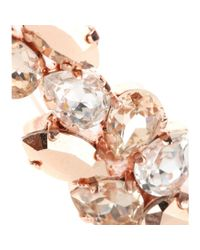 Joanna Laura Constantine | Pink Rose Gold-Plated Crystal-Embellished Ear Cuff | Lyst