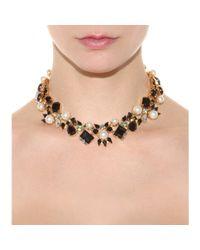 Erdem Multicolor 23kt Goldplated Swarovski Crystal Necklace