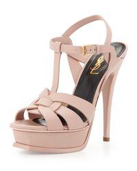 Saint Laurent Pink 'tribute' Sandals