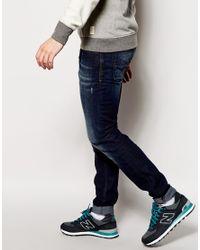 DIESEL - Blue Jeans Sleenker Skinny Fit 837j Stretch Dark Wash for Men - Lyst