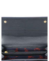 Vivienne Westwood - Blue Plaid Cotton Canvas Continental Wallet for Men - Lyst