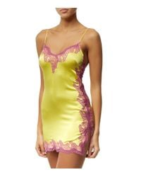 Agent Provocateur - Purple Lucie Silk Slip - Lyst