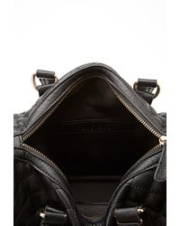 Forever 21 - Black Quilted Faux Leather Satchel - Lyst
