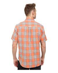 Tommy Bahama | Orange Double Maker Plaid S/s for Men | Lyst