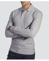 Armani Jeans - Gray Regular Fit Tipped Logo Polo for Men - Lyst