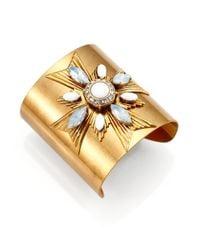 Tory Burch | White Selma Cuff Bracelet | Lyst