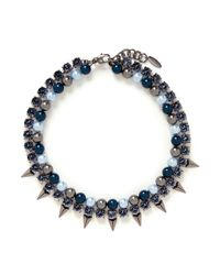 Joomi Lim - Multicolor 'vicious Love' Spike Faux Pearl Crystal Double Strand Necklace - Lyst