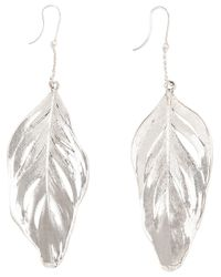 Aurelie Bidermann - Metallic Swan Feather Earrings - Lyst