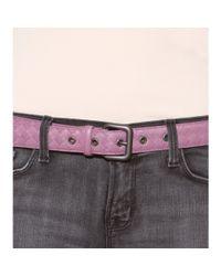 Bottega Veneta Purple Intrecciato Leather Belt
