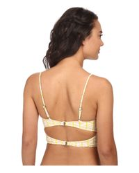 Tori Praver Swimwear | Yellow Jess Half Crop Top | Lyst