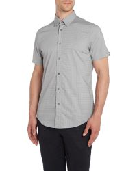 Ben Sherman | Gray Polka Dot Classic Fit Short Sleeve Button Down Sh for Men | Lyst