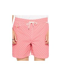 Ralph Lauren - Pink Polo Traveler Dotted Swim Shorts for Men - Lyst