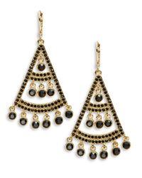 kate spade new york | Metallic Subtle Sparkle Chandelier Earrings | Lyst