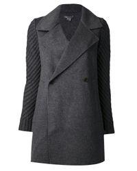 Vince - Gray Sweater Coat - Lyst